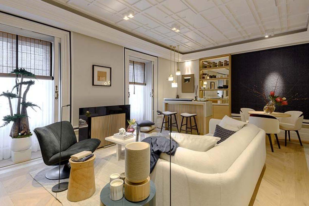 Espacio de Ele Room 62 junto a Bang & Olufsen en Casa Decor. Una explosión de diseño entre oriente y occidente