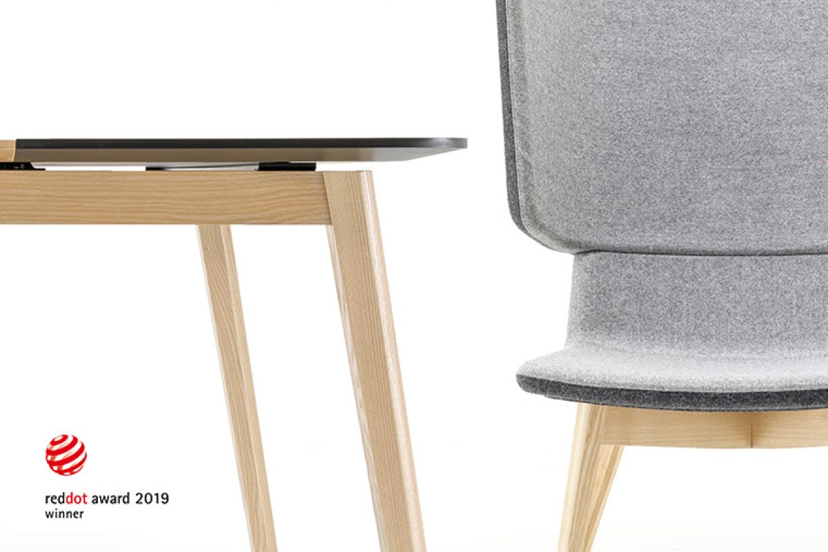 Dos productos para espacios de trabajo de la firma Lituana Narbutas, galardonados con el Red Dot Design Award 2019