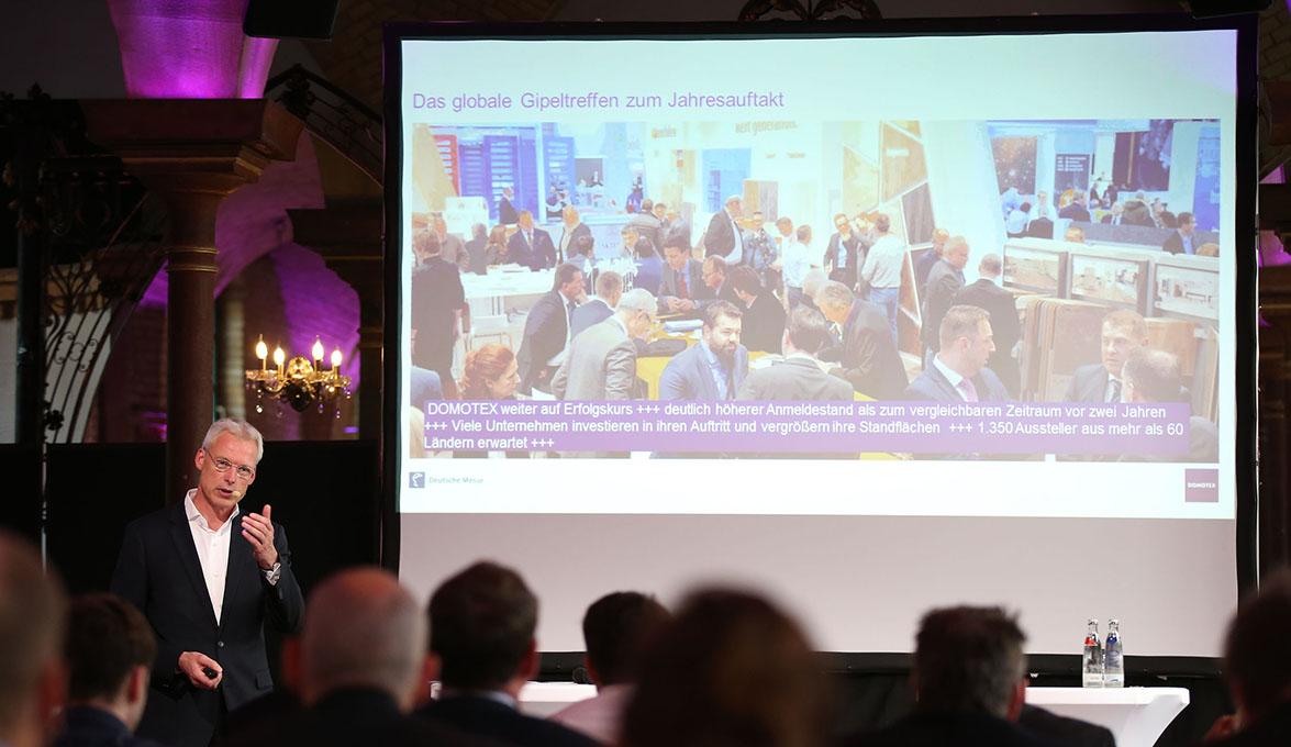 DOMOTEX Preview 2017 - Ausblick auf die DOMOTEX 2017: Dr. Andreas Gruchow, Mitglied des Vorstandes, Deutsche Messe AG, Hannover