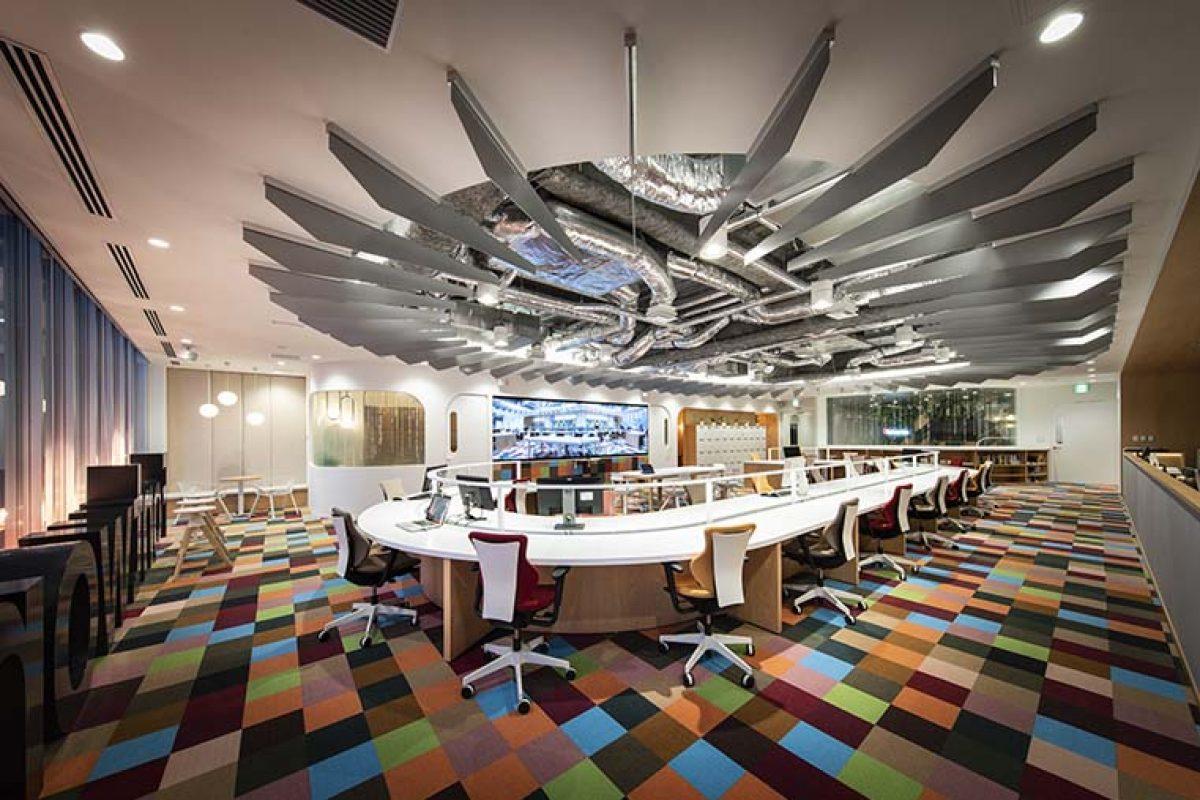 Las nuevas oficinas de Fontworks en Minato-Ku, Tokio, un proyecto diseñado por Prism Design