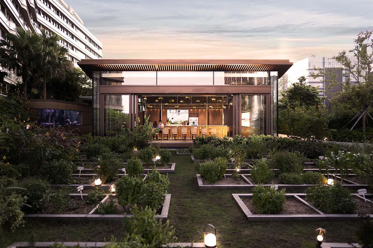 Museo de la biodiversidad y centro de aprendizaje sobre sostenibilidad en una azotea de Hong Kong, por LAAB Architects