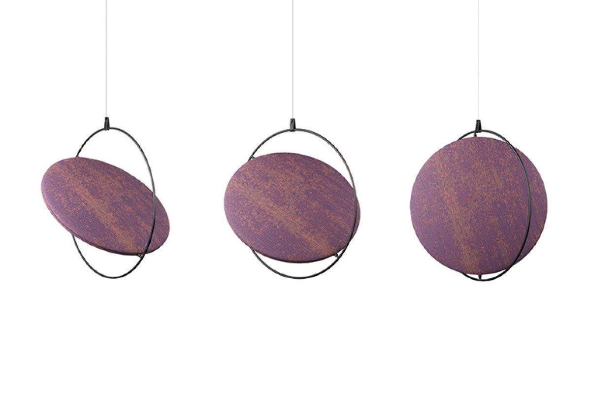 Drisag, la firma belga que inspira los espacios de trabajo, une a sus propuestas el panel acústico Lunar diseñado por Yonoh