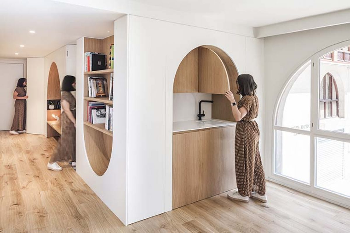 Proyecto interiorismo de oficinas por Zooco Estudio. Cuando la morfología del local se convierte en el concepto generador