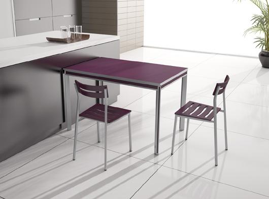 Mesa para cocina extensible itaca de metasola - Mesas redondas para cocinas ...