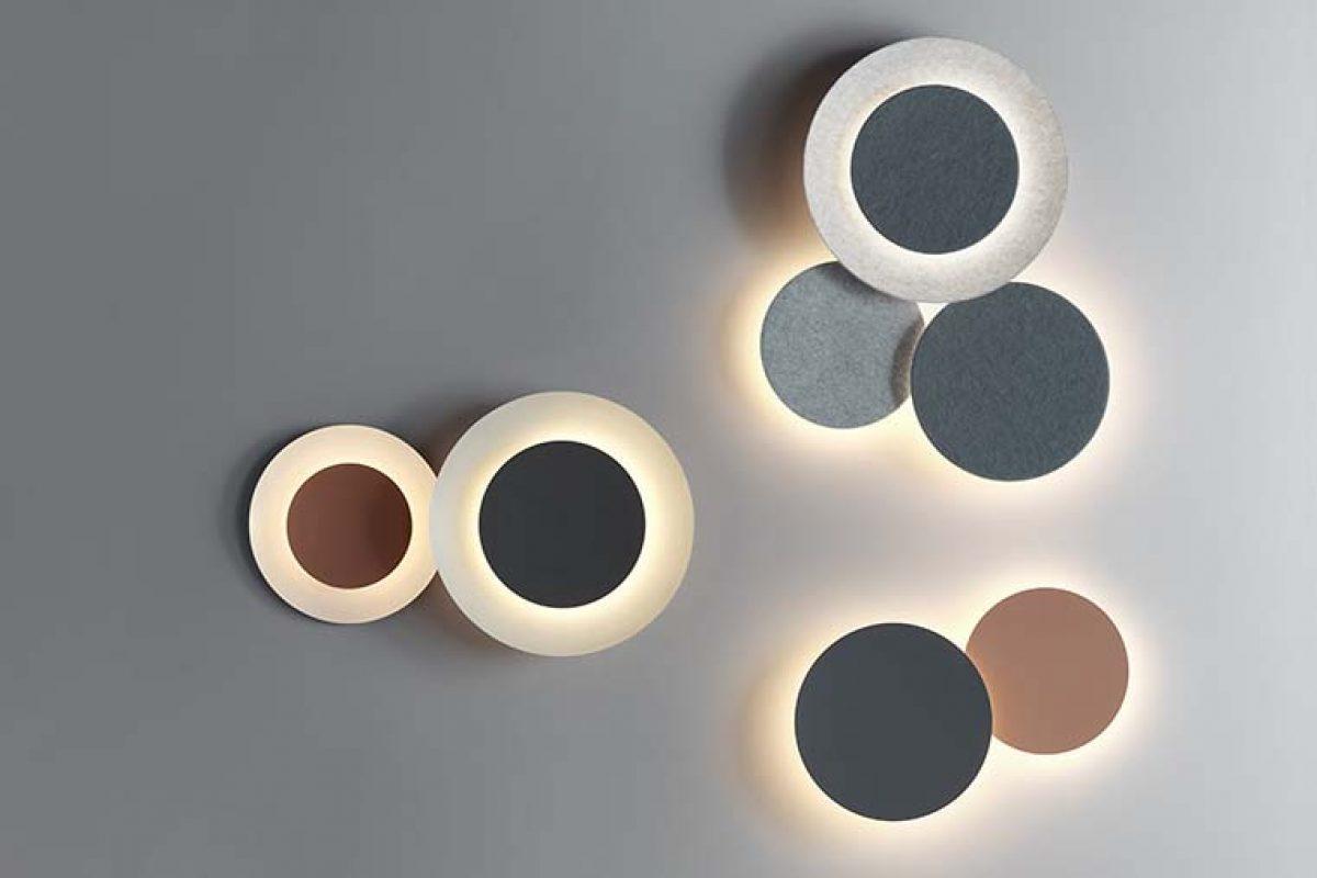 Puck Wall Art, el cálido eclipse de luz de Vibia se viste ahora con fieltro