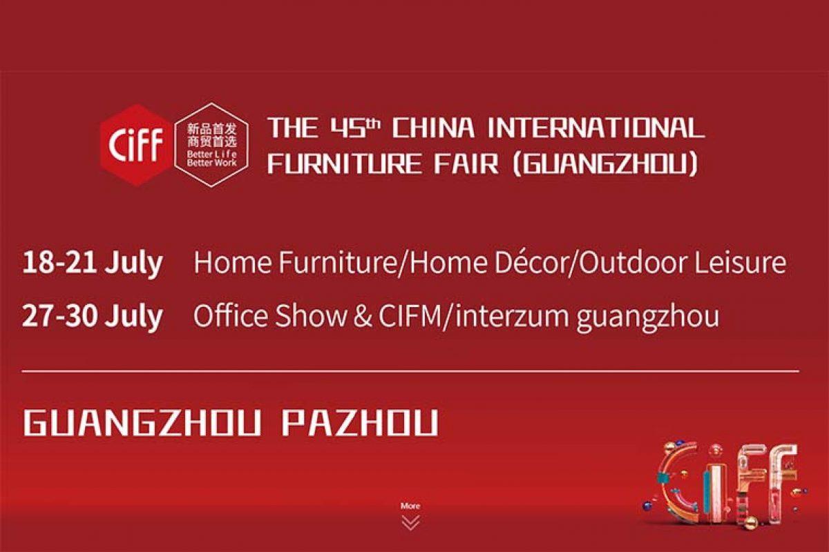 CIFF Guangzhou comunica sus nuevas fechas, se celebrará del 18 al 21 de julio de 2020