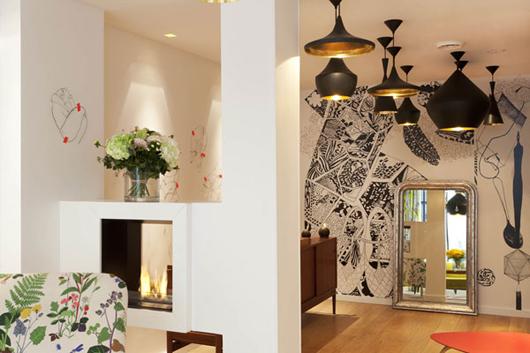 Tres tintas elegido para dise ar las paredes del hotel for Hoteles de diseno en paris
