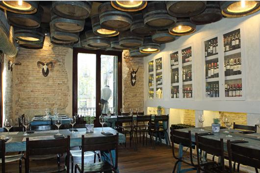 Nuevo restaurante casa guinart con aires andaluces en el - Mobiliario de un bar ...