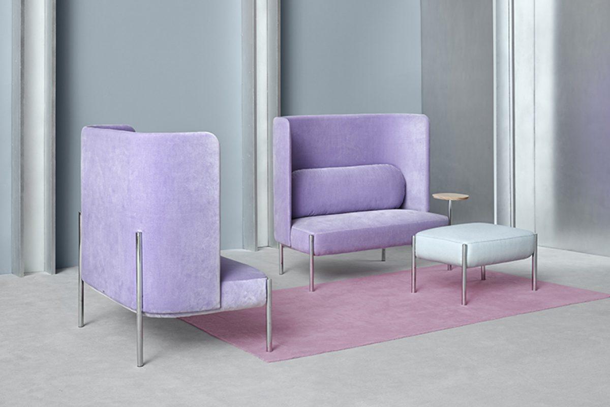 La familia Ara de PerezOchando para Missana crece con un sofá y un puff. Dos piezas diseñadas para ofrecer intimidad y comodidad
