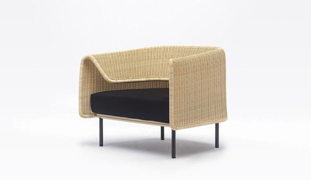 Wrap outdoor armchair by Omi Tanaha for Yamakawa Rattan