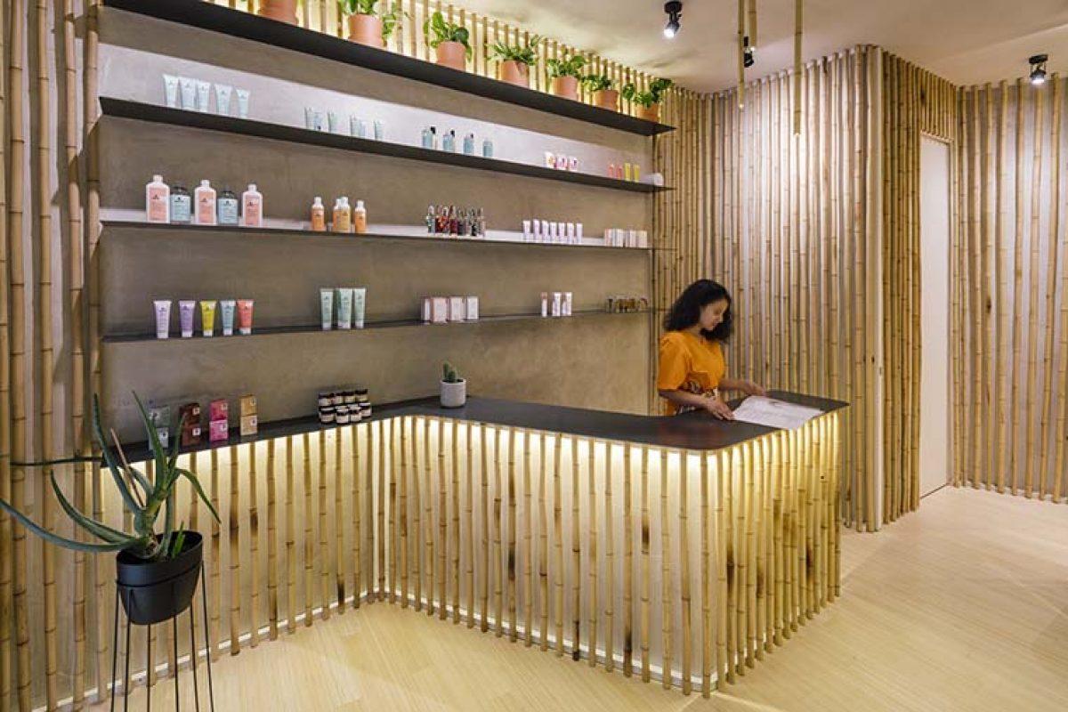 El bambú se hace protagonista en Nuilea Madrid Day Spa, diseñado por ZooCo Estudio