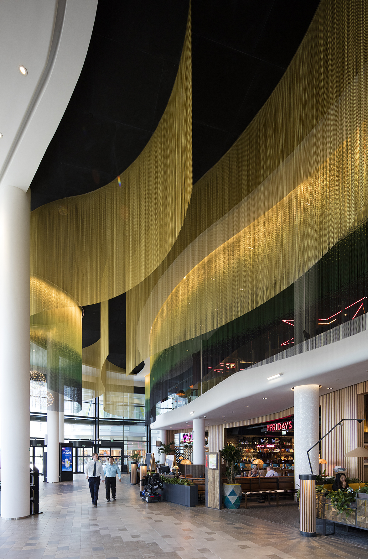 Kriskadecor chains flow in the ceiling of Southampton's ...