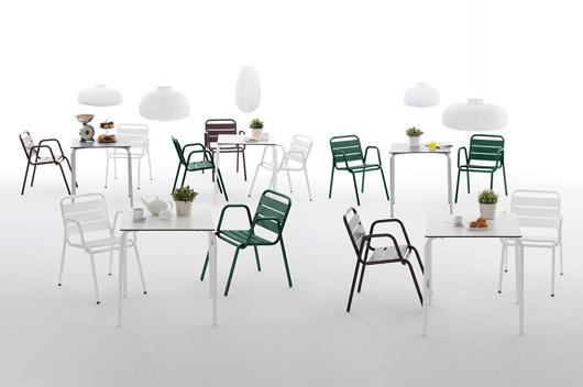 Isi contract mobiliario fresco para las terrazas de este for Mobiliario para terrazas