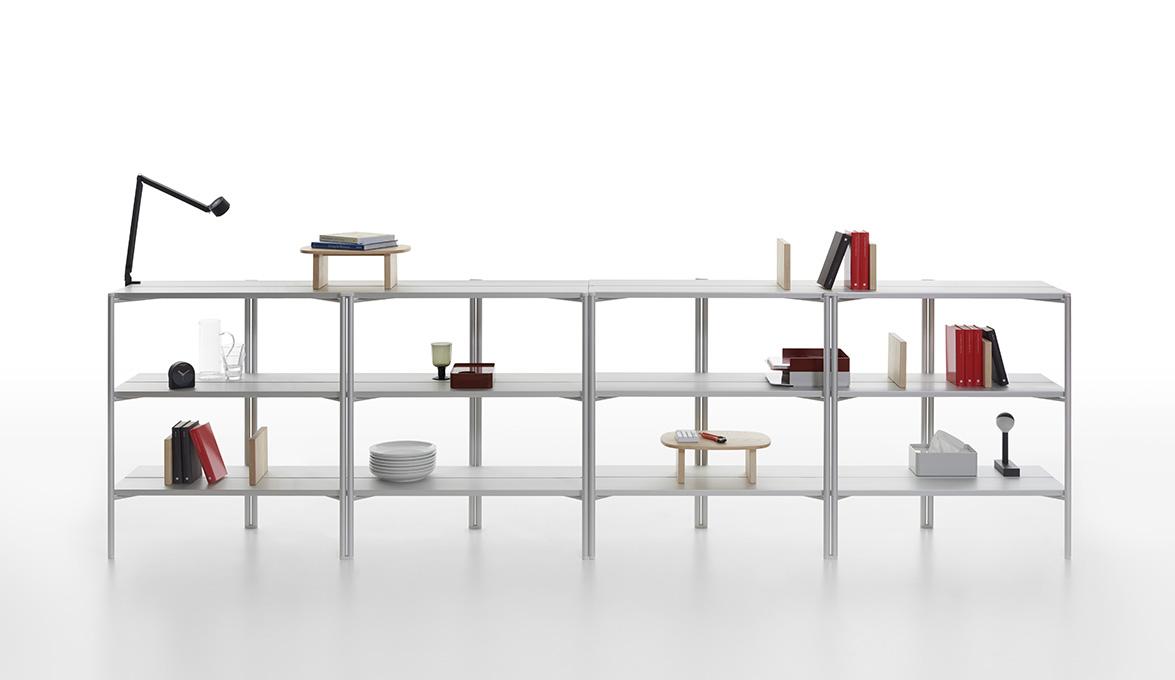 16. Emeco Run Aluminum shelves