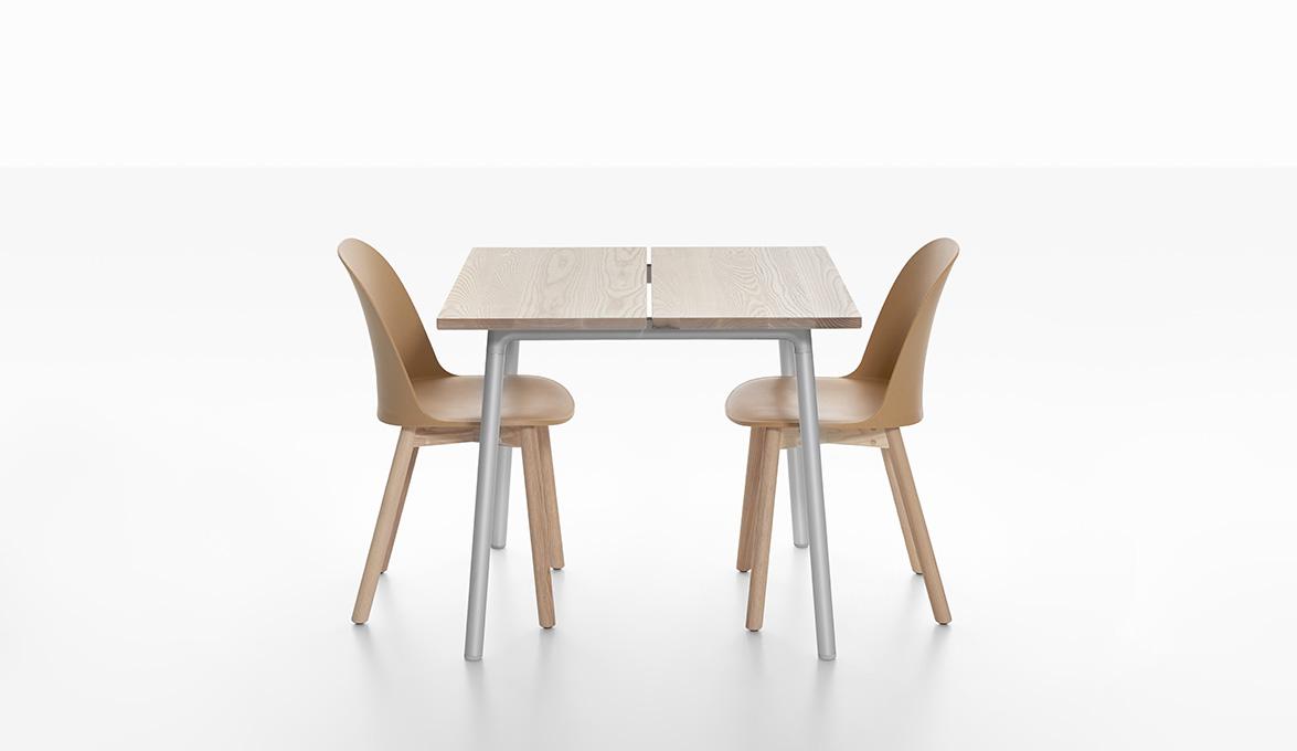 9. Emeco Run Ash Table with Alfi Chairs