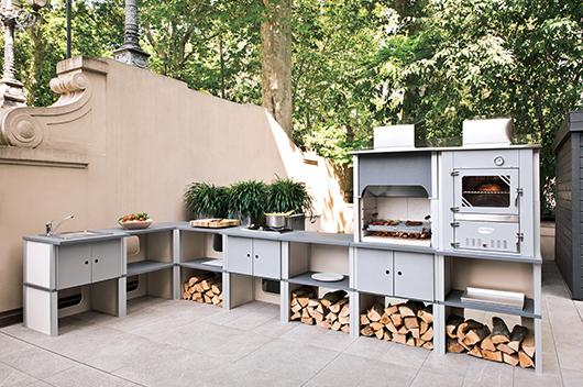Palazzetti sistemas modulares flexibles para cocinas de for Cocina barbacoa exterior