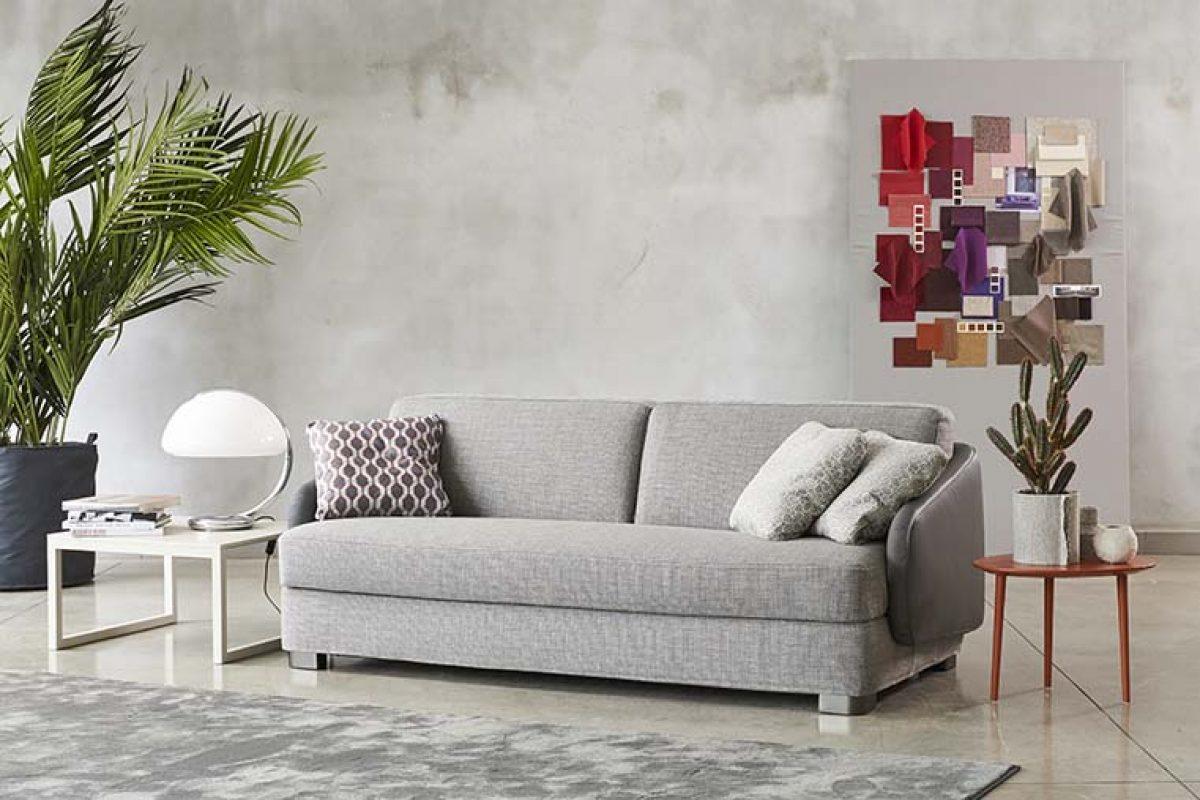 Vivien de Alessandro Elli para Milano Bedding. Un sofá y sofá cama con aires de los años 50 y 60