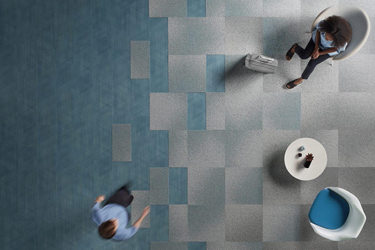 Visual Code y Drawn Lines, las nuevas colecciones de pavimento modular y LVT de Interface