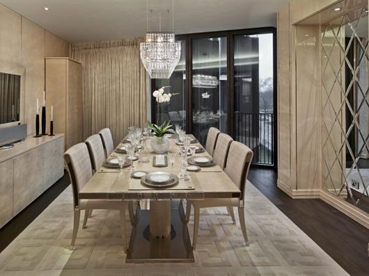 Fendi casa and voix interiors furnish a prestigious for Fenda muebles
