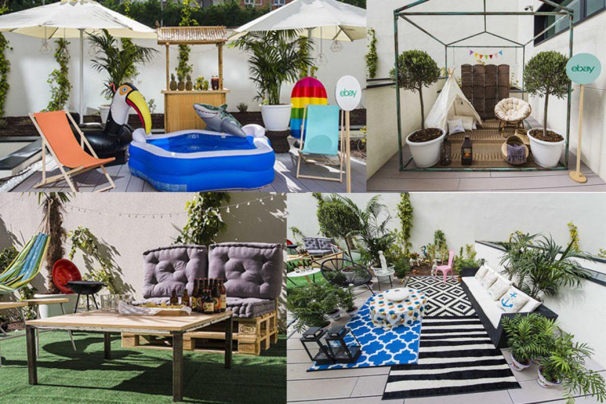 Las propuestas de decoración exterior de eBay para el 'terraceo' de la mano del diseñador Guille García-Hoz